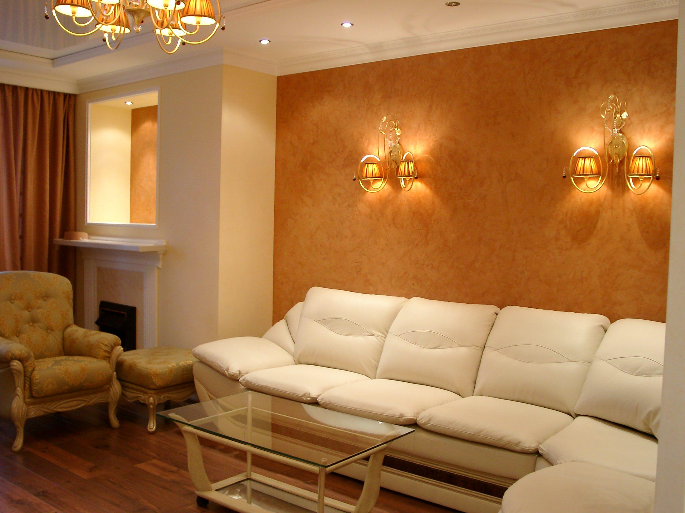 Estuco veneciano interior y estuco a la cal en fachadas for Marmol color naranja